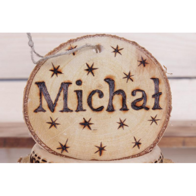 Your name on a birch slice