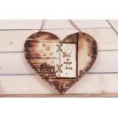"""Heart pendant. """"Door to my heart"""""""